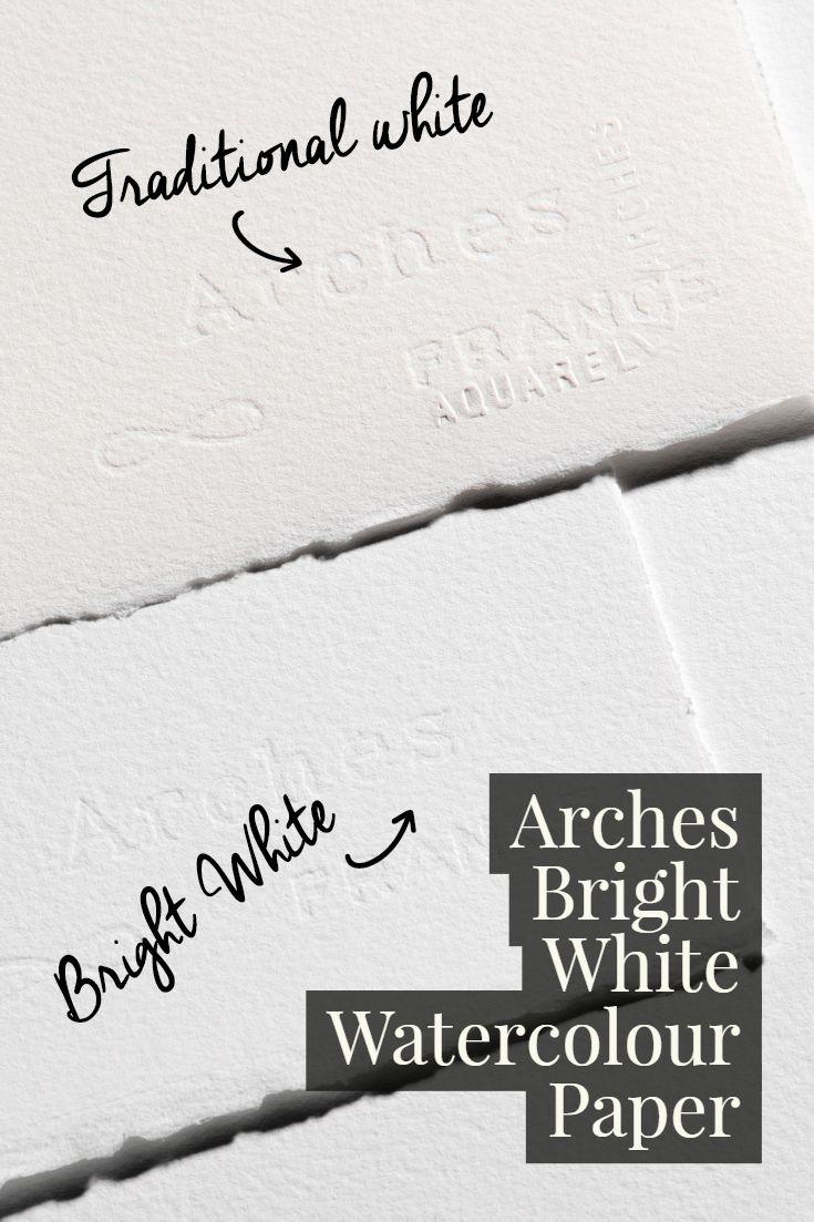 Arches Bright White Aquarelle Watercolour Paper Watercolor Paper