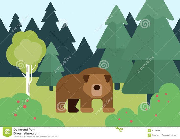 flat-design-cartoon-vector-wild-animals-bear-forest-zoo-children-collection-45353940.jpg (1300×1009)