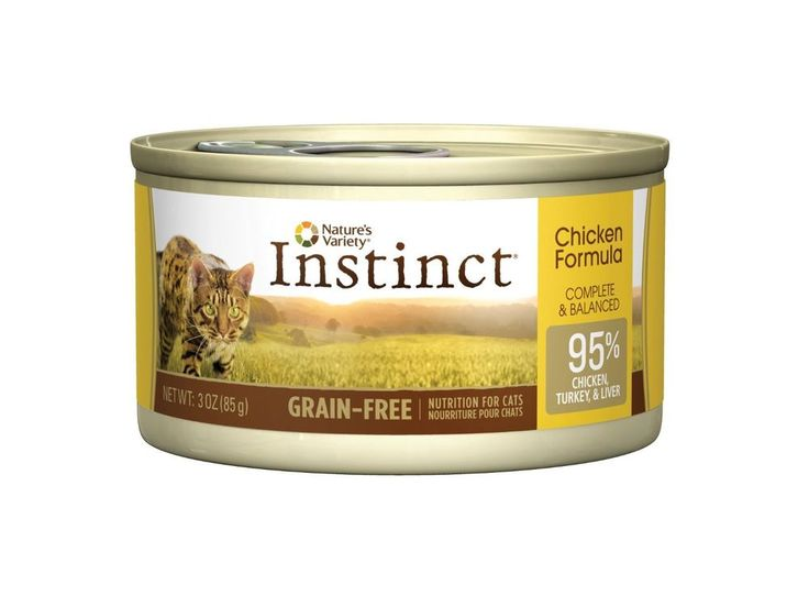 Nature's Variety Instinct Grain-Free Canned Cat Food, Chicken 24 Pack, 3 Oz Cans #NaturesVariety