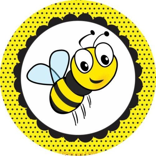 Printable Bee Cupcake Topper