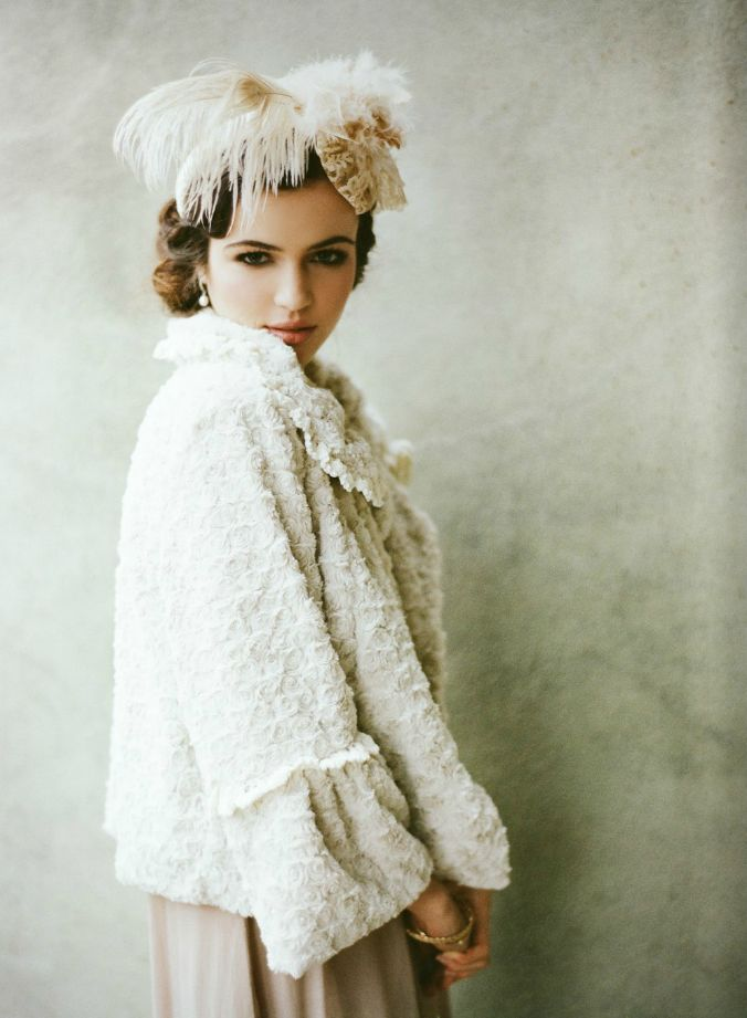 """Great little coat for the winter Bride.  Bridal Collection by """"Ruche"""""""