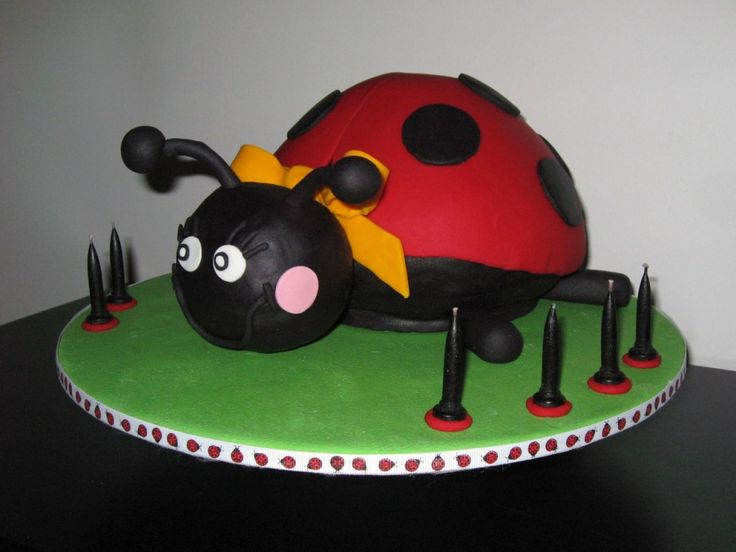 3D lady beetle cake