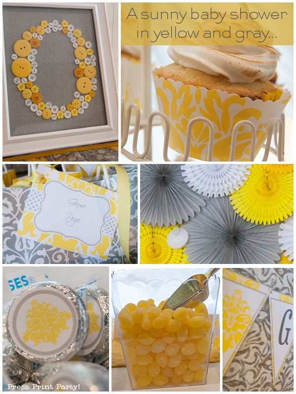 grey and yellow baby shower | Baby Showers , Party Ideas April 19, 2014 No comments