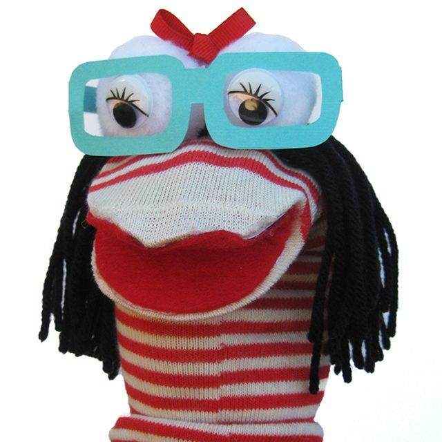 Nerdy Girl, Simple Sock Puppets