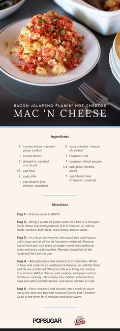 Spicy Mac and Cheese Recipe | POPSUGAR Food