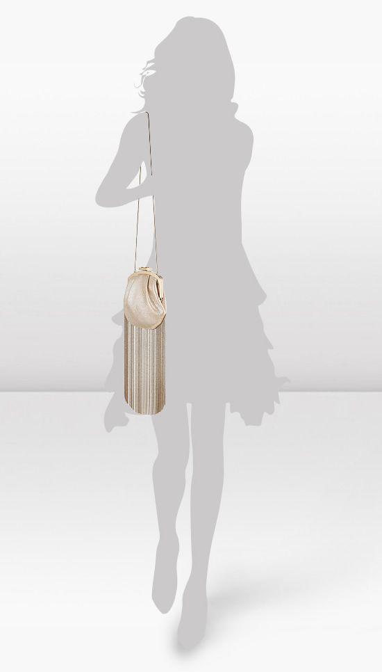 Jimmy Choo Castina shimmer leather evening bag