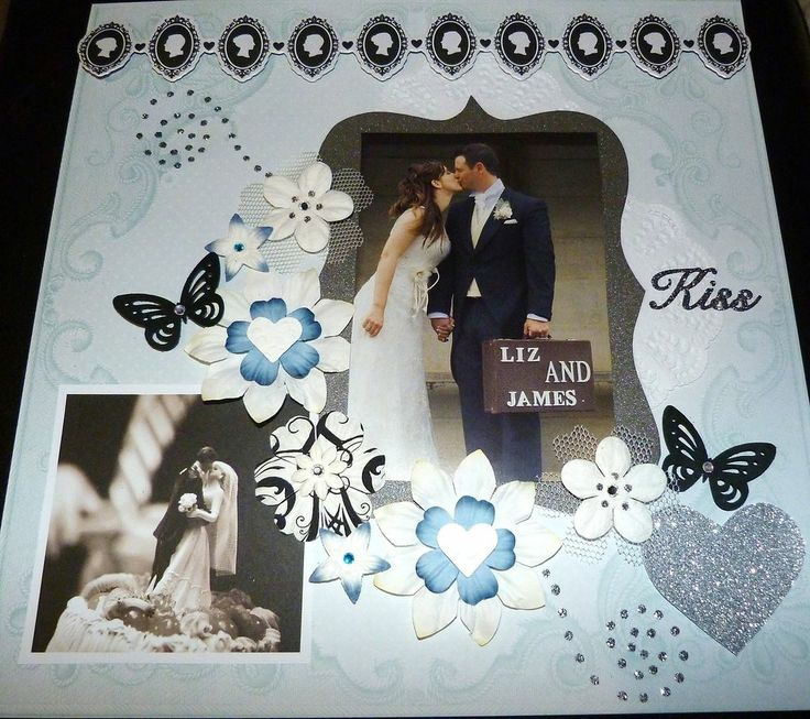 """SCRAPBOOK PAGE 12 X 12 HANDMADE....""""KISS""""...reduced to $9.99"""