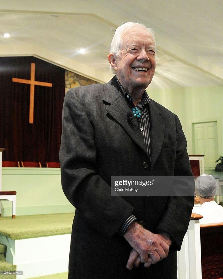 Former President Jimmy Carter teaches Sunday school. My aunts is taking Rhea and Savannah to Plains, Ga. next week.