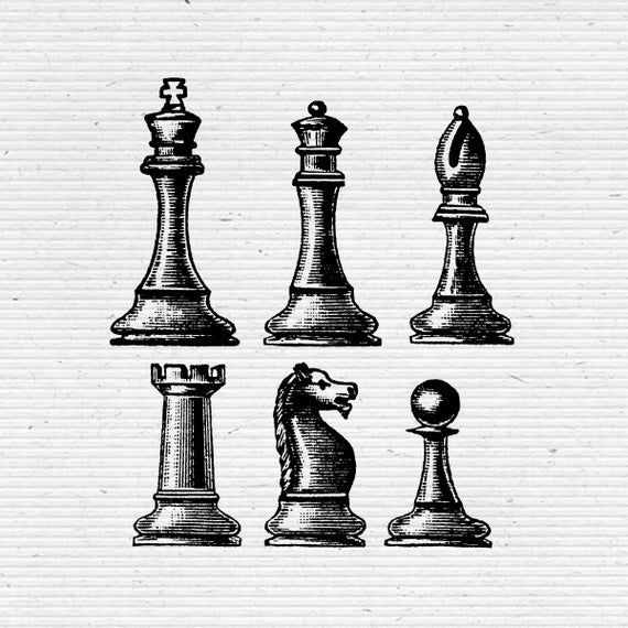 Chess Pieces Illustration Digital Cliparts And Vectors In Jpg Png And Eps Illustration Chess Pieces Digital