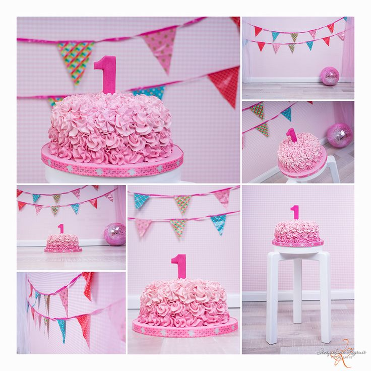 Foto, cakesmash, girl, one, year,