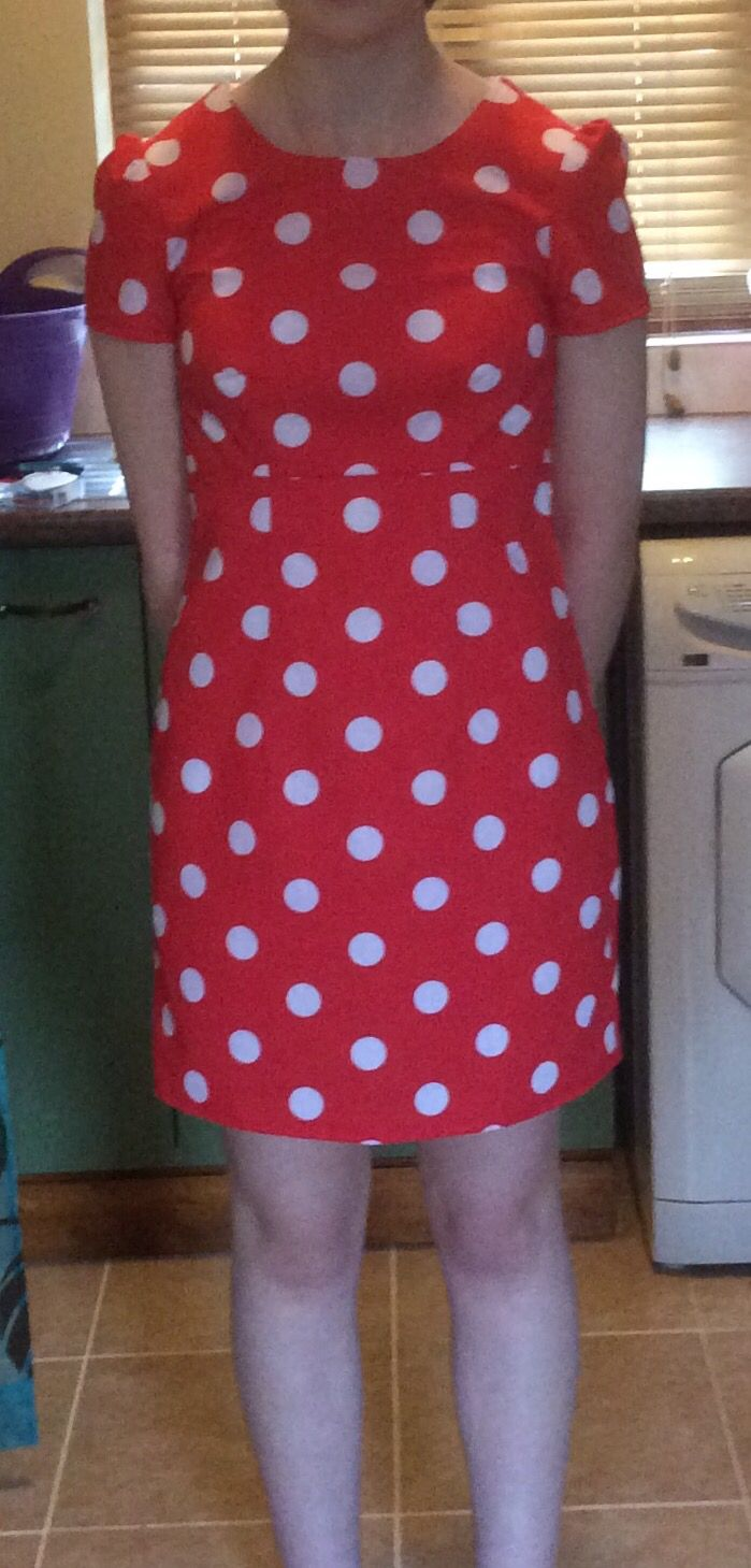 This is the Megan dress from Tilly and the Buttons' book. It is a great fit and shape. I love the gathered sleeves on it!