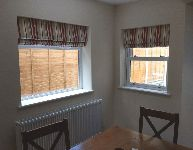 Matching blinds in dining room