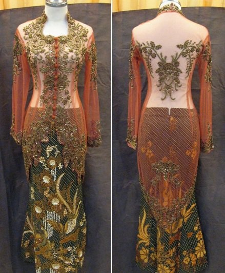 Chocolat Indonesian Traditional Wedding Dress