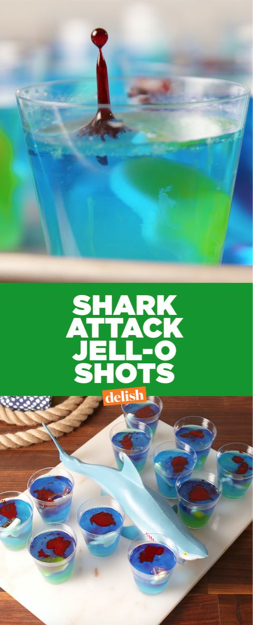 You can't celebrate Shark Week without Shark Attack Jell-O Shots. Get the recipe from Delish.com.