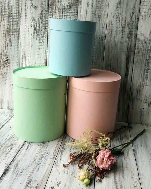 Подставки под цветы ручной работы. Ярмарка Мастеров - ручная работа. Купить Шляпные коробки для цветов, круглые коробки.. Handmade.