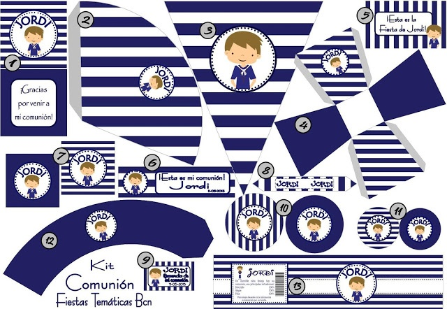 resumen kit imprimible comunion niño