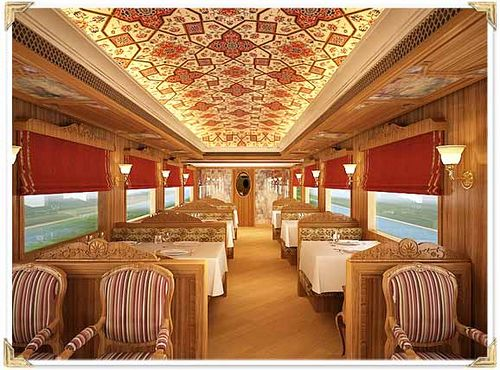 Train Chartering - Maharajas Express restaurant by Train Chartering & Private Rail Cars, via Flickr