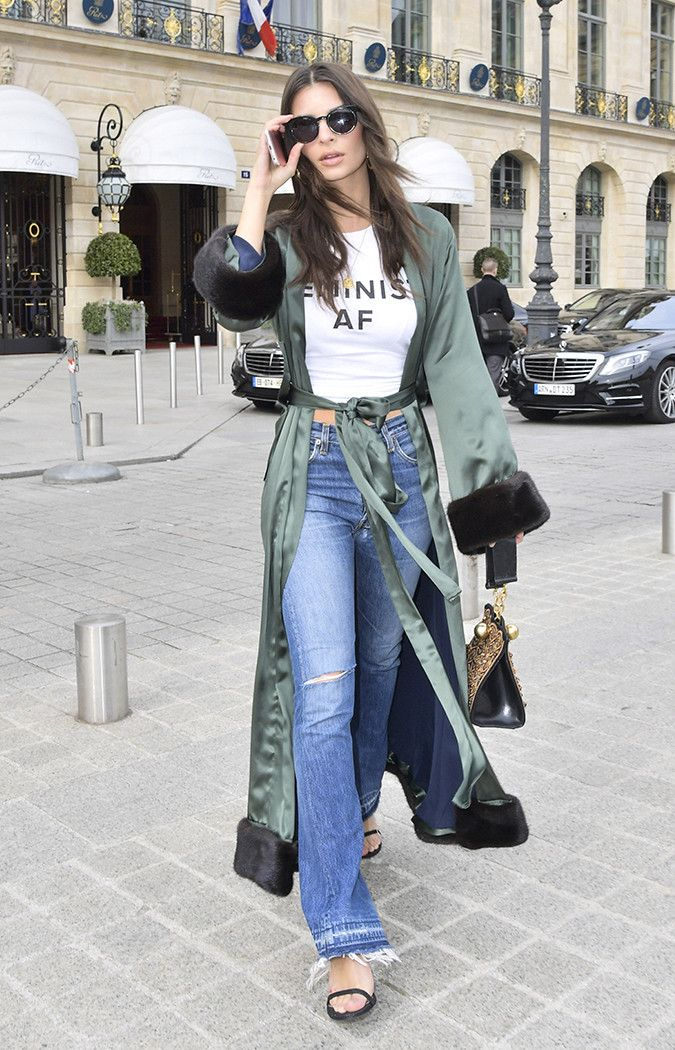 See—and shop—the ultra-feminine spring trends Emily Ratajkowski has been rocking this season.