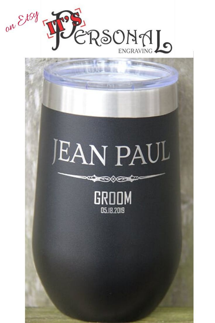 Usher Best Man Groomsman Gift for Dad Officiant Gift Wedding Favor Thank You Gift Personalized Monogrammed Glass Father of the Groom
