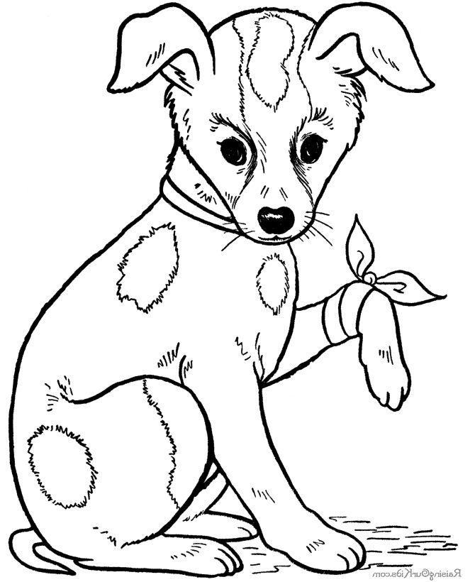 Dog Sick Coloring Page
