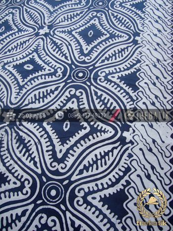 Kain Batik Bahan Baju Motif Etnik Biru Dongker | Indonesian Batik Fabric Pattern Design http://thebatik.co.id/kain-batik-bahan/