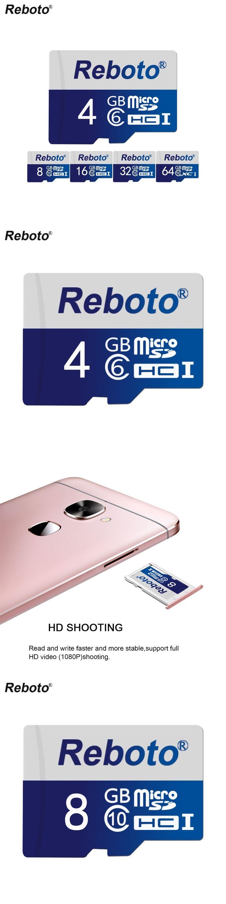 Reboto Blue memory card 8GB 4GB 2GB Micro SD Card Genuine Capacity Pen drive External Flash Microsd