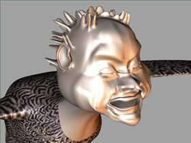Harpy Character in 3D, Maya