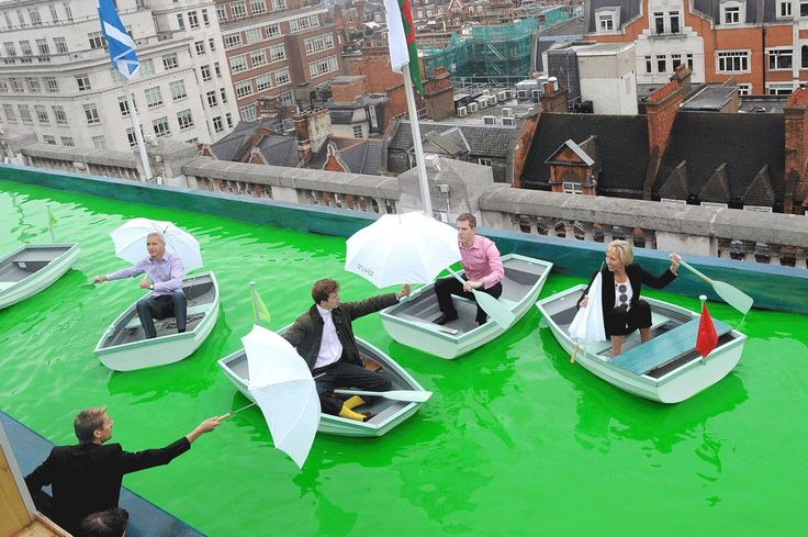 Offering vast views across London, this art installation from creative minds Bompass and Parr has made it possible to sail across Selfridges' rooftop. The 'Voyage of Discovery' exhibition is open until this Sunday and includes a waterfall, dyed green water and 12 small sailing boats