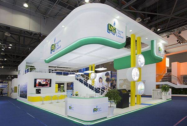 Double decker exhibition stand for Nigeria LNG