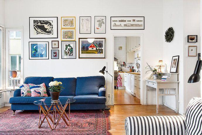 Bilder, Vardagsrum, Tavla, Matta, Soffa - Hemnet Inspiration