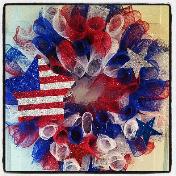 Patriotic/Fourth of July Decorative Wreath by OccasionsShop, $35.00