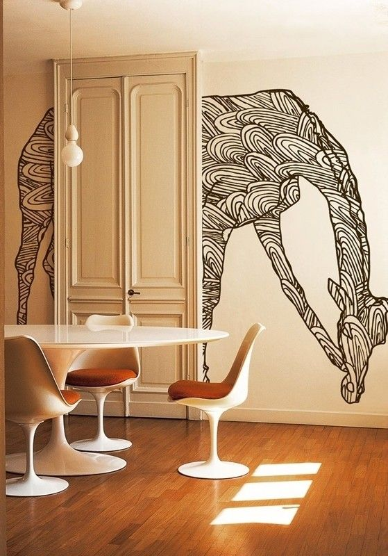 create bold wall art with basic outlines