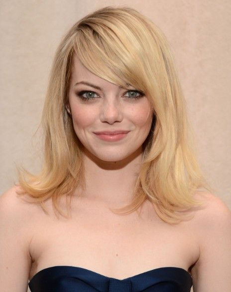 medium length hair cut bangs | Ali Larter Haircuts: Blonde,Medium Straight Hairstyles for Side Bangs ...