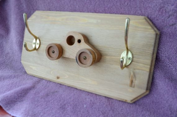Various Fun Kids Coat rack by LKWoodenthings on Etsy, $45.00