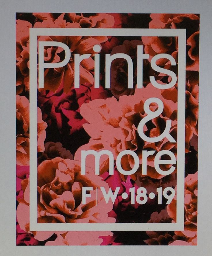 Prints & More is an ideal addition to colour and theme forecasts for everybody working with high-fashion printed patterns - thus in the fields of textile printing and finishing, garment production and retail, accessories, home textiles, wall papers, tiles, gift wrapping paper and much more