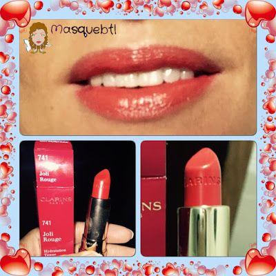 Clarins lipstick, 741 Joli -Rouge. Masquebtl blog