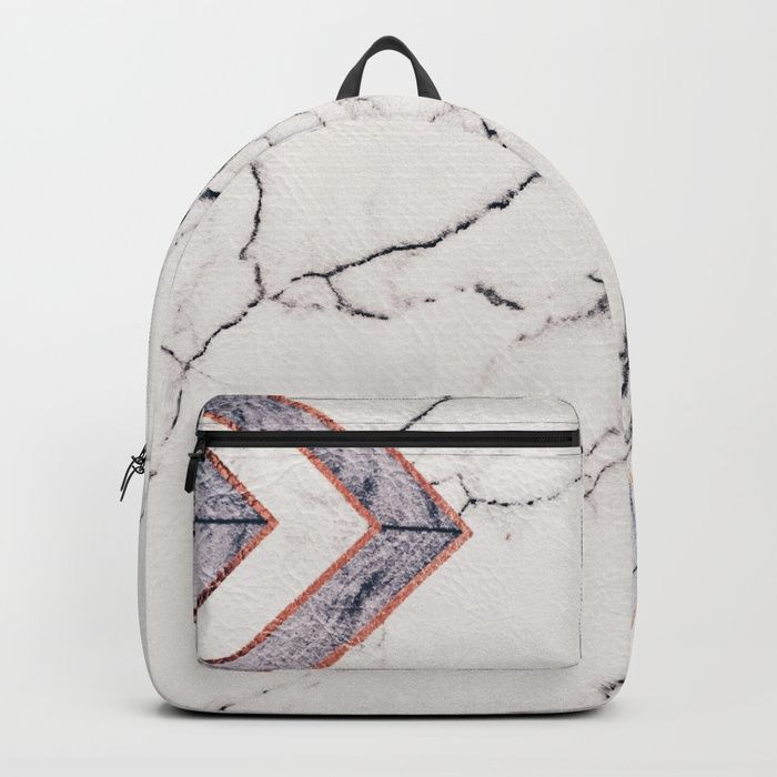 Leather marble Backpack