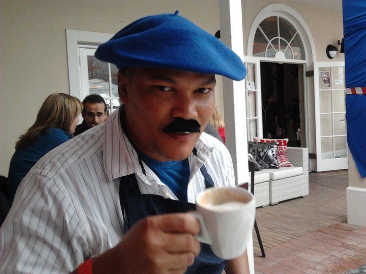"""Coffee at the Bastille Festival, Franschhoek """