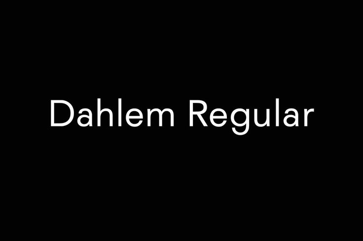 Bureau Mirko Borsche — Dahlem Regular