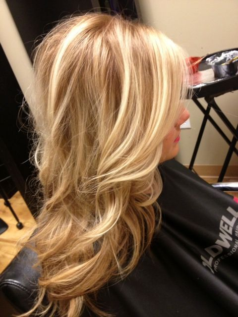 caramel toned slicing with baby blone