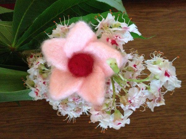 Flower made of felt