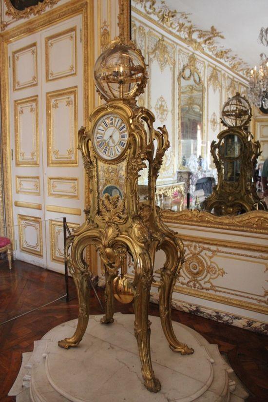 Palace Of Versailles Rooms Louis XV Clock At The