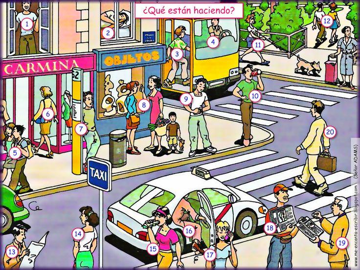 Me encanta escribir en español: En la ciudad : ¿Qué están haciendo?