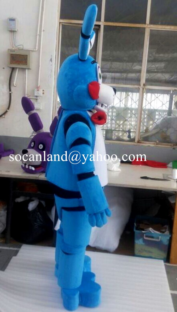 2017 05 freddy fazbear costume amazon - Toy Bonnie Mascot Costume From Five Nights At Freddy S Toy Bonnie Cosply Costumes For Halloween