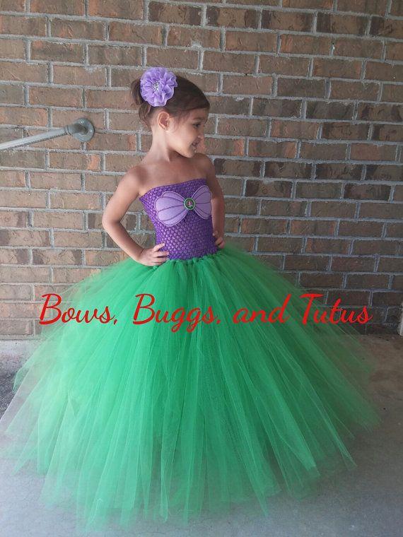 8ed54c509bf09 Ariel tutu dress little mermaid dress mermaid by BowsBuggsandTutus |  Birthday ideas | Mermaid halloween costumes, Little mermaid dresses, Mermaid  tutu