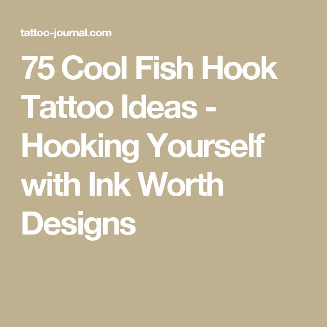 75 Cool Fish Hook Tattoo Ideas - Hooking Yourself with Ink Worth Designs