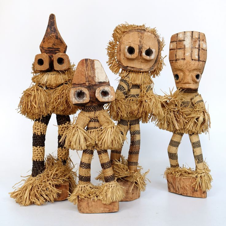 African dolls representing masked dancers of the Pende tribe living in the Democratic Republic of the Congo (formerly known as Zaire)