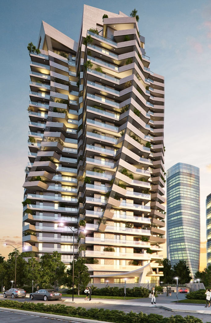Park Tower (ex Torre Arduino) by Daniel Libeskind @ CityLife