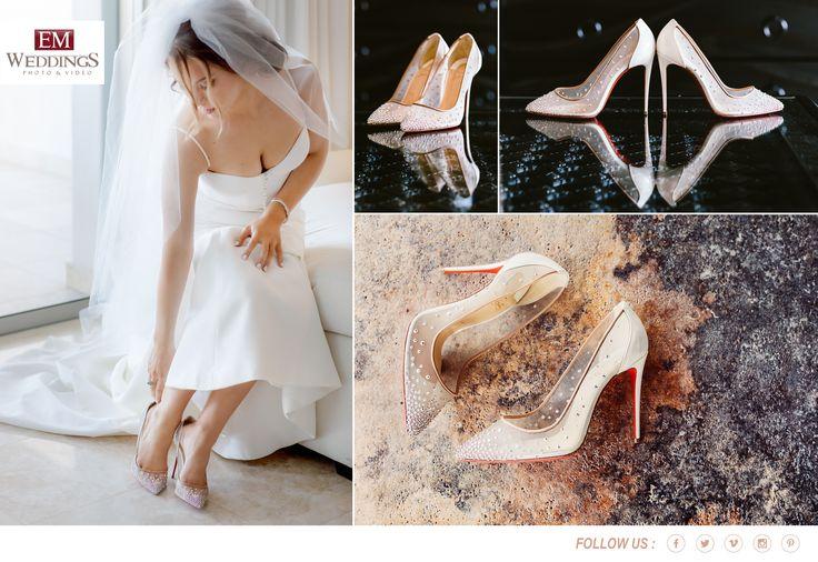 Wedding Shoes!  #christian louboutin #emweddingsphotography #destinationweddings
