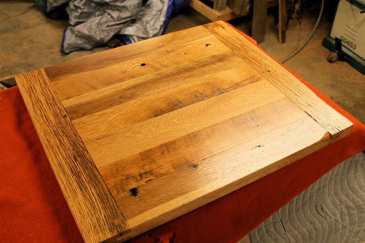 24x28 oak table top with breadboard ends  table tops